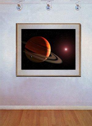 """""""Orbiting a Red Dwarf Star"""" Art Print NASA Hubble"""