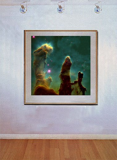 """Eagle Nebula"" Art Print from NASA's Space Telescope"