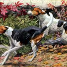"""American & English Foxhoun"" Dog Art Print Fuertes"