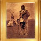 """Whistle Smoke"" Edward S. Curtis Art Photograph"