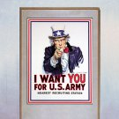 """I want You"" U.S. Army Beautiful Art Print"