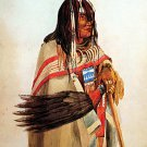 """Blackfoot With Fan""  Native American Indian Art Print"