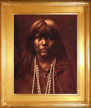 """Mohave Girl"" Edward S. Curtis Art Photograph"