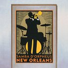 """New Orleans Jazz"" Beautiful Art Deco Print"