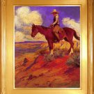 "Elling William Gollings ""Tall in the Saddle"" Art Print"