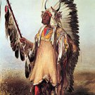 """Mato-Tope Indian chief"" Art Print Karl Bodmer"