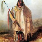 """Indian Chief with Medicine Pipe"" Native American Art"