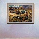 """The Forty-niners""BIG Cowboy Art Print O.E. Berninghaus"
