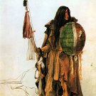 """Indian With Shield""  Native American Bodmer Art Print"