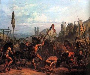 """Bison Dance"" Bodmer Native American Indian Art Print"