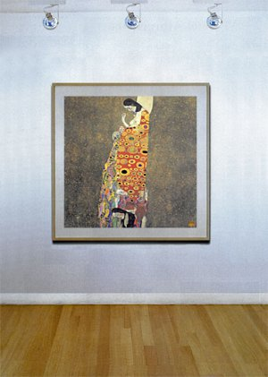 """Hope II"" BIG Art Deco Print by Gustav Klimt Art Deco"