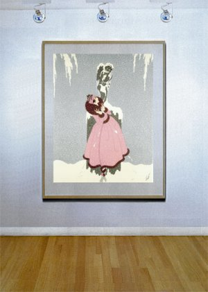 """End of the Romance"" BIG Art Deco Print by Erte"