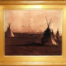 """Indian Encampment"" Edward S. Curtis Art Photograph"