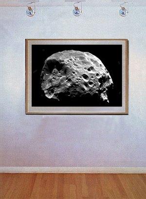 """Comet Moon of Saturn"" Art Print from NASA's Telescope"