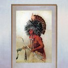 """Indian Portrait"" Native American Art Print by Bodmer"