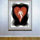 """Heart"" BIG Art Deco Print by Erte"