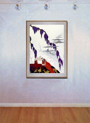 """Vintage"" Wine Grapes BIG Art Deco Print Erte"