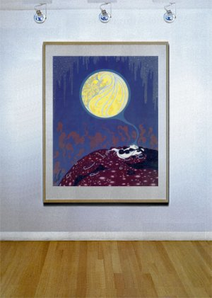 """Earth's Dream"" HUGE Art Deco Print by Erte"