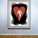 """Heart"" HUGE Art Deco Print by Erte"