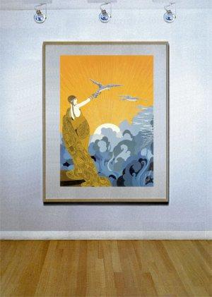 """""""Wings of Victory"""" HUGE Art Deco Print by Erte"""
