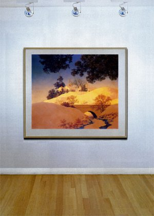 """Sunlight"" HUGE Maxfield Parrish Art Deco Print"