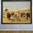 """The Roundup"" HUGE Art Print Elling William Gollings"