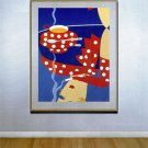 """Reflections"" HUGE Art Deco Print by Erte"