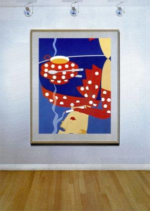 """Reflections"" HUGE Art Deco Print by Erte"