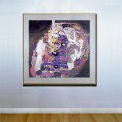"""The Maiden"" HUGE Art Deco Print by Gustav Klimt"