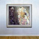 """Death and Life"" HUGE Art Deco Print by Gustav Klimt"