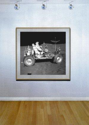 """Lunar Roving Vehicle"" HUGE Art Print of NASA Astronaut"