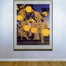 """Lantern Bearers"" HUGE Maxfield Parrish Art Deco Print"