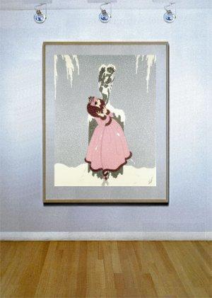 """End of the Romance"" HUGE Art Deco Print by Erte"
