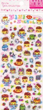 Q-lia Purin Purin Pudding Sticker Sheet