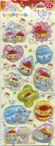 Q-lia Purin Pudding Capsule Sticker Sheet