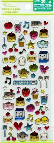 Q-lia Tiny Cafe Sticker Sheet