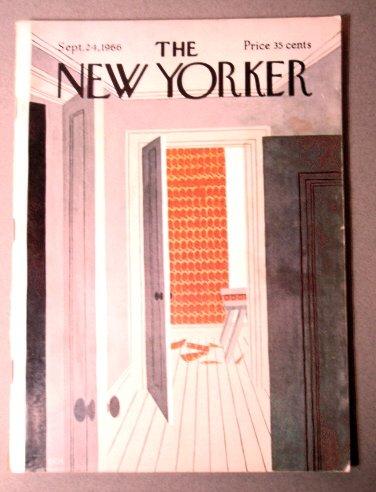 THE NEW YORKER MAGAZINE SEPT 24, 1966 MARTIN COVER