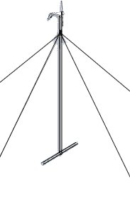 30' Whisper Guyed Tower Kit w/o pipe and anchors