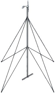 50' Whisper Guyed Tower Kit w/o pipe and anchors