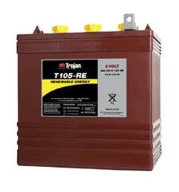 T105-RE 6V  Trojan Deep Cycle Battery