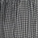 New Window Curtain Valance made from BLACK & WHITE GINGHAM  fabric   FREE SHIPPING