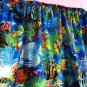 New Window Curtain Valance Made From Tropical Blue Ocean Fish fabric