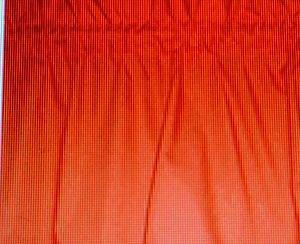 New Window Curtain Valance made from Tangerine Orange Cotton fabric