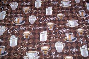 New Window Curtain Valance made from Coffee Java Mocha  Cotton fabric