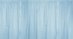 New Window Curtain Valance Made From Solid Baby Blue Cotton fabric