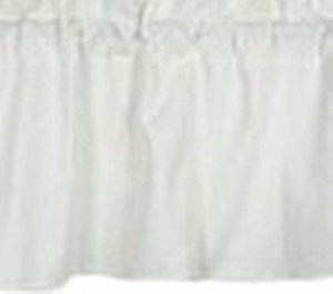 New Window Curtain Valance Made From Solid Snow White Cotton fabric