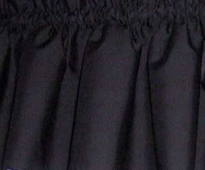 New Window Curtain Valance Made From Solid Black Cotton fabric