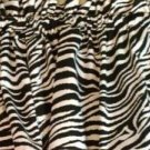 New Window Curtain Valance Made From Wild Zebra Stripes Cotton fabric