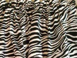 New Window Curtain Valance Made From Wild Zebra Stripes Cotton fabric