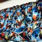 "42"" wide 15"" long Window Curtain Valance Blue Spiderman  fabric"